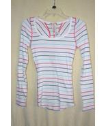 OP Striped Long Sleeve Lightweight Cotton Henle... - $5.99