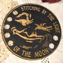 Mr. Moon Organizer cross stitch accessory Retro... - $12.00
