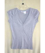 No Boundries Gray Ribbed Cap Sleeve Cotton Shir... - $4.99