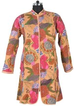 M Long Jacket Cotton Printed Quilted Coat India... - $37.05