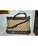 New $1470 Authentic GUCCI Monogram Handbag Cros... - $970.77
