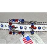 NWT $155 BB Simon White Leather Belt RED WHITE ... - $105.74