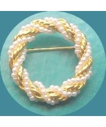 Enternity  Circle PIN created  pearl and rope t... - $6.00