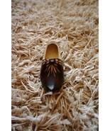 Vintage Soviet USSR Hand Carved Wooden Shoe Sou... - $10.00