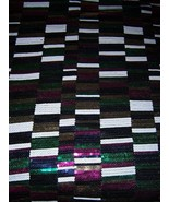 3yds COLOR BLOCKED MULTICOLOR DAZZLING SEQUINED... - $100.00