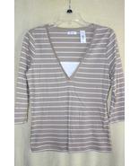 Liz & Co. Beige 3/4 Sleeve Lightweight Shirt   ... - $4.99