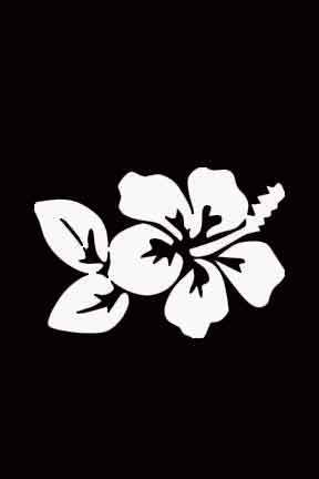 White Vinyl Hibiscus Flower Window Decal Sticker