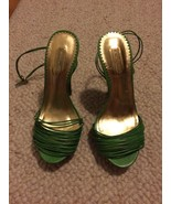 Report Signature Rhea Green Strappy  5 Inch Woo... - $28.99