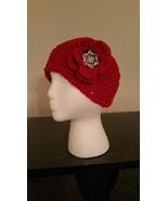 Red Handmade Headband/Earwarmer - $20.00