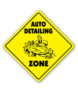 AUTO DETAILING ZONE Sign xing gift novelty car ... - $8.44