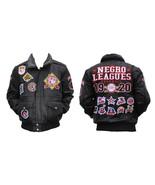 Negro Leagues Baseball Leather Jacket Vintage S... - $275.49