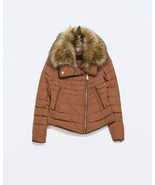 ZARA SHORT ANORAK WITH FUR COLLAR  PARKA PUFFER... - $109.00