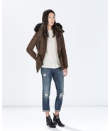 ZARA FEATHER DOWN QUILTED PUFFER JACKET PARKA F... - $109.00