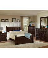 BONN - NEW TRANSITIONAL 5pcs DARK BROWN QUEEN K... - $1,598.79