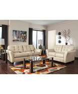 MONTREAL-MODERN REAL CREAM LEATHER SOFA COUCH L... - $1,525.79