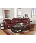 WESTIN-MODERN RED BONDED LEATHER RECLINING SOFA... - $1,579.89