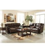 DOMINIC-BROWN FAUX LEATHER POWERED RECLINING SO... - $2,167.85