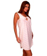 Pink Sleep Shirt Short Gown Keyhole Opening  2X 3X - $16.99