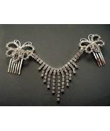 Rhinestone Hair Clip Wedding Butterflys Dangle ... - $13.99