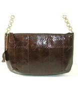 Bloomingdales Snake Embossed Leather Chain Smal... - $19.79