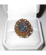 Vintage Baden and Foss 14K Gold Aquamarine Ring... - $543.51