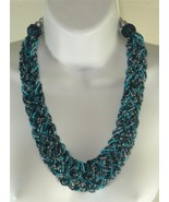 Macy's Wide Braided Turquoise Beaded Statement ... - $15.83