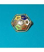 Vintage 10K Gold Masonic Lapel Pin Enameled  He... - $49.49