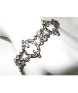 Vintage Monet Rhinestone Bracelet  Victorian Style - $17.81