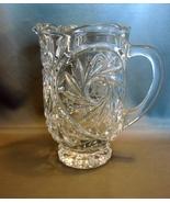 Elegant Cut Crystal Water Pitcher * Star Pinwhe... - $30.00