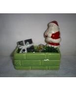 Vintage Santa on the Chimney Planter, Christmas... - $15.00