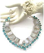 Handmade 925 Sterling Silver Moonstone and Swis... - $92.00