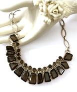 Handmade 925 Sterling Silver and Smoky Quartz N... - $92.00