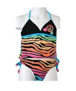 Breaking Waves Fun Black/Rainbow Zebra Print Gi... - $14.99