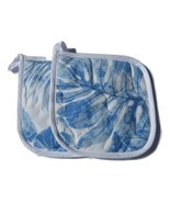 2 Hawaiian Made Quilted Potholders Blues White ... - $11.99