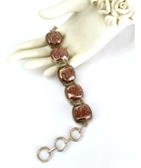 Rare Handmade Copper Druzy and 925 Sterling Sil... - $140.00