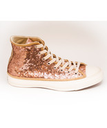 Sequin Rose Gold on Champagne Canvas Custom Can... - $189.99