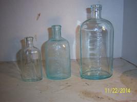 1890-1920's Medicine Bottles Lot of 3 Different... - $12.00