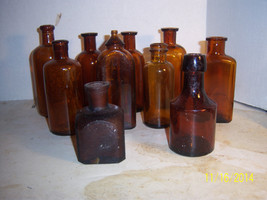1890-1930's Lot of 10  3 5/8 to 6 1/8 inch aqua... - $25.00
