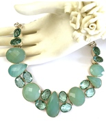 Gorgeous Handmade Aqua Chalcedony, Apatite, and... - $140.00