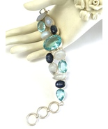 Pretty Handmade Blue Topaz, Moonstone, Kyanite ... - $132.00