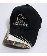 Ducks Unlimited Black and Camo Baseball Hat Cap... - $19.30