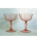 Arcoroc France Pink Swirl Champagne Sherbet Gla... - $19.30