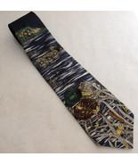 Ducks Unlimited Silk Tie Navy Blue Necktie Mall... - $17.37