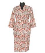 S/M Long Cotton Hand Block Print Dressing Robe ... - $22.80
