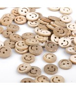 100 Round Smile Face 2 Hole Buttons Clothing Se... - $2.69
