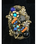 Ollipop Butterfly and Flowers Ring - $22.40