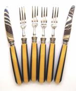 Art Deco Bakelite Butterscotch Black Laminated ... - $28.00