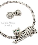 Unique stunning evening tiger crystal necklace ... - $48.50