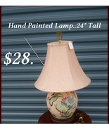 BEAUTIFUL, HAND PAINTED LAMP - $28.00