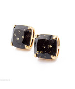 NEW Auth KATE SPADE JET BLACK GOLD Glitter Stud... - $39.55